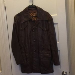 Vintage Leather Jacket Large